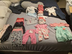 3 month and 3-6 month baby girl clothes for Sale in Montverde, FL