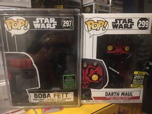 Funko Pop Star Wars Darth Maul Boba Fett for Sale in El Cajon, CA