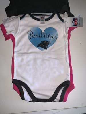 Carolina Panthers NFL onesie set 6-12 months for Sale in Killeen, TX