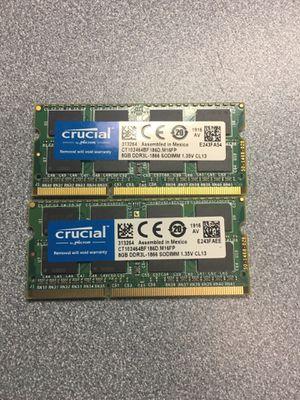 Crucial ddr3L laptop ram 16GB for Sale in Phoenix, AZ
