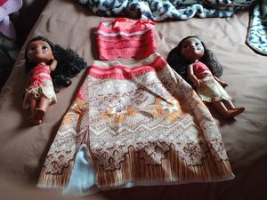 2two Moana dolls. for Sale in Mercedes, TX