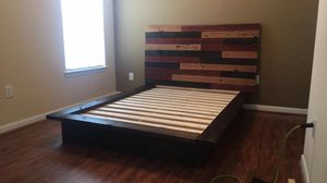 Platform Bed, 2 Couches, & 4 Barstools for Sale in Humble, TX