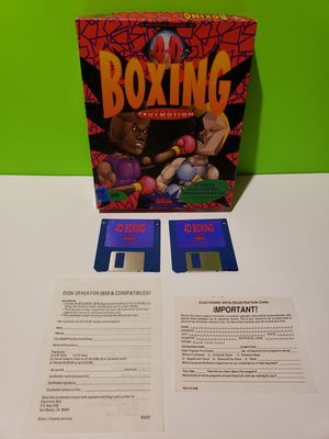 IBM 4D Boxing Rare 3.5 Disk Version Game in Box for Sale in Reinholds, PA