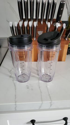 Ninja blender cups with lids for Sale in Burbank, CA