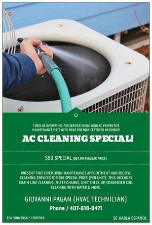 AC CLEANING MAINTENANCE for Sale in Poinciana, FL