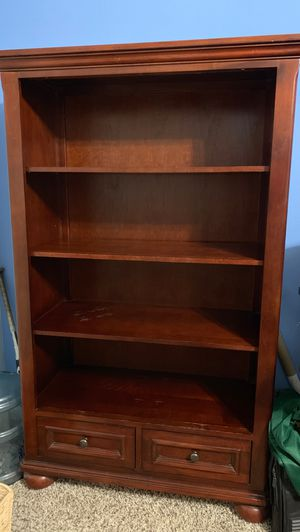 Shelving with two drawers for storage at the bottom. Good condition has a few scratches. for Sale in Fresno, CA