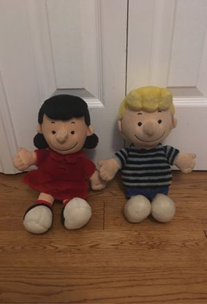 Peanut Gang Schroeder and Lucy plushies for Sale in Long Beach, CA
