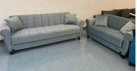 SAME DAY delivery 🛷Blossom Gray Sleeper Sofa & Loveseat *** ●SOFA & loveseat 🛷 for Sale in Bellaire,  TX
