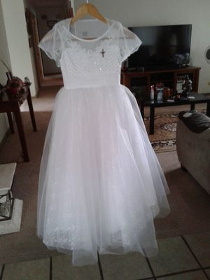 1st communion dress size 8 used once like new for Sale in Stockton, CA