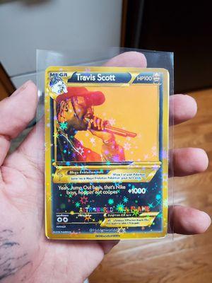 Travis scott star holo pokemon card for Sale in Glen Cove, NY