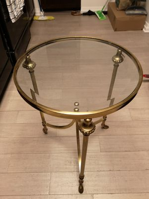 Antique brass and glass table for Sale in Chicago, IL