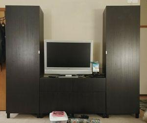 Best offer: Black Cabinet/Media/Storage/Shelving/4 Drawer for Sale in Coeur d'Alene, ID