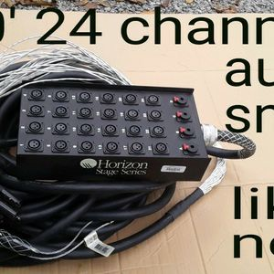 24 Channel audio snake cable, 100ft. In Like New Condition for Sale in Mt. Juliet, TN