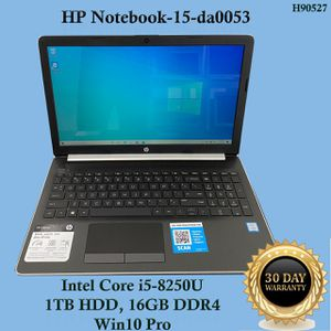"HP Notebook-15-da0053, Intel Core i5, 16GB DDR4, 1TB HDD, Win10 Pro ""H90527"" for Sale in Glendale, CA"