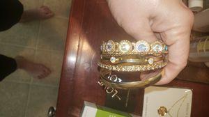 Gold/crystal bracelets for Sale in Corona, CA