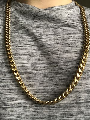 Gold Chain 9mm Miami Cuban 30 Inches Gold Plated for Sale in Pittsburgh, PA