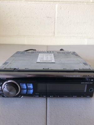 alpine cde 9874 head unit/receiver with front rca's and sub rca's for Sale in Riverview, FL