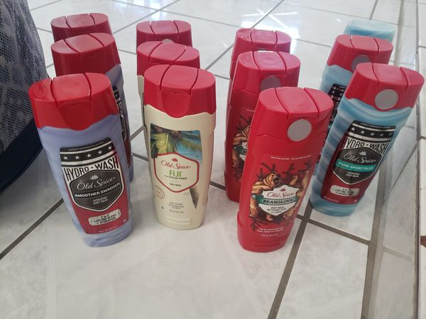 Mens old spice body wasy 2.50 each