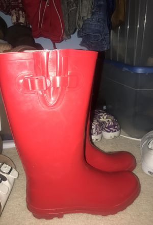 Rain boots RED for Sale in Knightdale, NC
