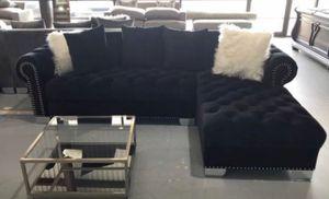 New black velvet Sectional Sofa for Sale in Austin, TX