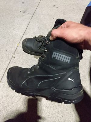 PUMA Steel Toe Waterproof/Oil Proof/Spill Proof WORK BOOTS(Size 13, All Black) for Sale in Columbus, OH