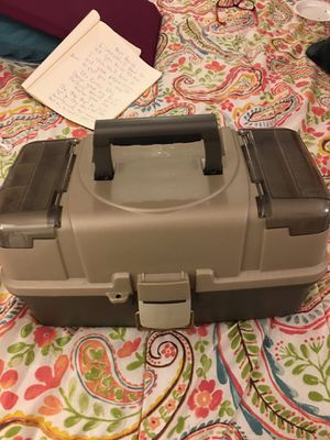 Fishing tackle box with all new accessories for Sale in Glen Burnie, MD