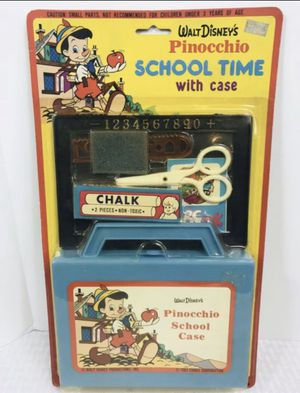 This 1983 vintage Disney's Pinocchio school time with Case Set is new in the packaging for Sale in Boston, MA
