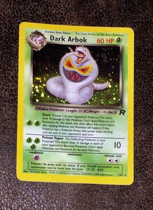 Vintage Pokemon Card Dark Arbok Holographic for Sale in Naples, FL