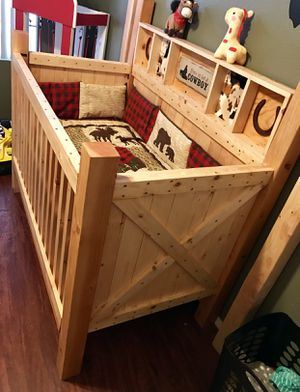 Custom wood baby crib for Sale in Surprise, AZ