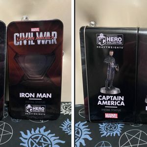 Disney Marvel Captain America And Iron Man Metal Statues Figurines for Sale in Las Vegas, NV