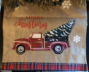 Farmhouse Red Truck Christmas Table Runner 68 x 13 for Sale in MENTOR ON THE, OH