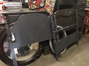 Charcoal/Grey Wooden Headboard & Footboard ONLY for Sale in Morrisville, NC
