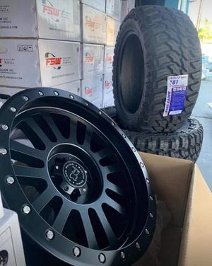 "20"" BLACK RHINO TIRES & WHEELS EL Cajon 20x10 Wheels & Tires NEW - Complete Only $1299 for Sale in Westminster, CA"
