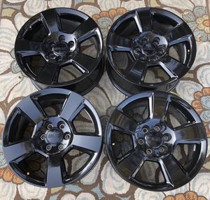 "20"" Chevy Tahoe Suburban Silverado FACTORY BLACK Wheels/Rims NEW for Sale in Fountain Valley, CA"
