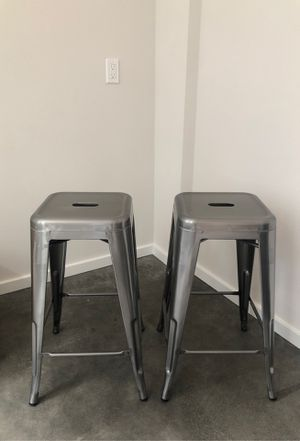 Pair of metal bar stools for Sale in Seattle, WA