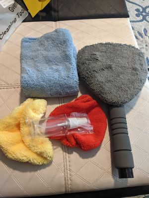 Windshield Cleaning Tool Microfiber Car Interior Window Cleaner with Extendable Aluminum Handle for Car & Home Glass for Sale in Weymouth, MA