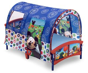 Mickey Mouse toddler bed with canopy -mattress sold separately for Sale in Hayward, CA