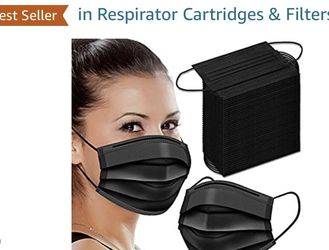 Brand new 100 Pcs 3 Ply Black Disposable Face Masks for Sale in Queens,  NY