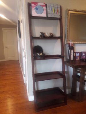 Crate and Barrel Brown Ladder Shelf for Sale in Mission Viejo, CA