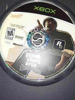 Grand Thief Auto.... San Andreas....Xbox Game for Sale in Fresno,  CA