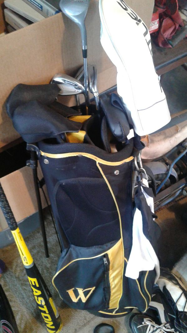 Taylor Made Golf Clubs and Bag with covers