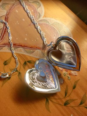 Heart necklace ❤️💛💖 Sterling Silver Heart Locket pendant opens ..... Come visit 😊👍 for Sale in Annandale, VA