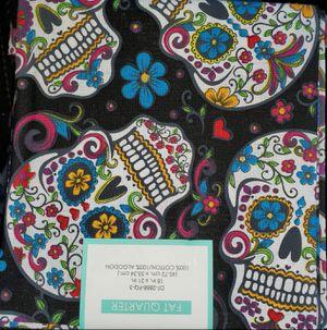 Black sugar skull fabric for Sale in Dixon, MO