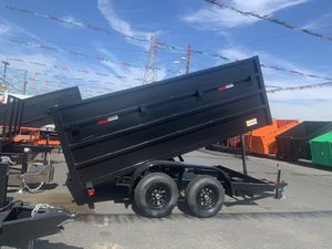 New Dump trailer 8x12x4 Hd axels $5350 cash not finance for Sale in Santa Ana, CA