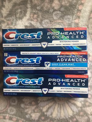 Crest Pro Health Advanced Toothpaste 5.1 Oz ALL FOR $6 for Sale in Garden Grove, CA