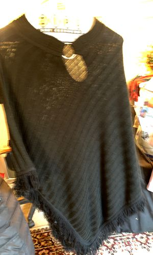 Black women's one size fits all poncho for Sale in Gaithersburg, MD