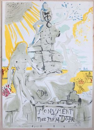 Rare Salvador Dali Monument To The Ideal Doctor LE Lithograph Signed / Numbered for Sale in Palos Hills, IL