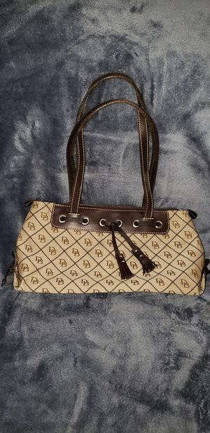 Dooney & Burke Tan and Brown Purse for Sale in Houston, TX