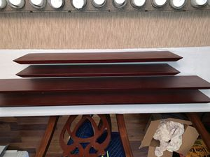 4 piece Mahogany wall shelving for Sale in Stone Mountain, GA