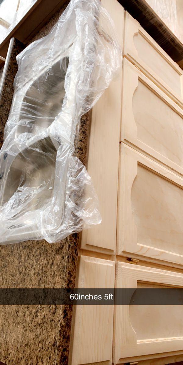 5ft kitchen cabinet countertop & sink